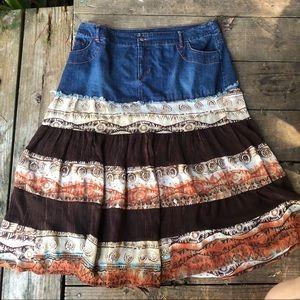 Cato | Denim & Gypsy Skirt